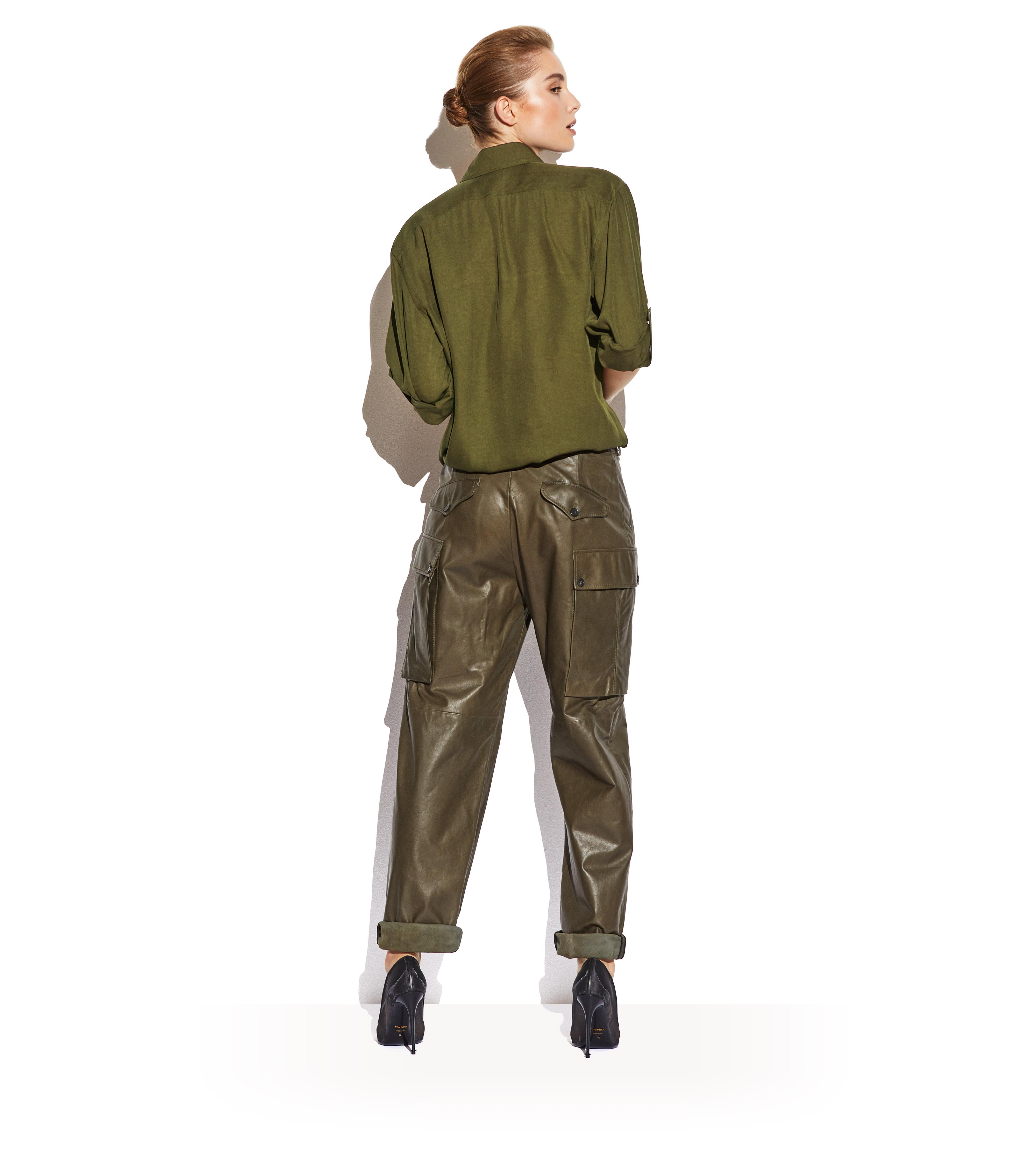 CLOVER LEATHER CARGO PANTS C thumbnail