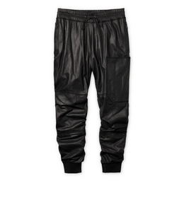 1335207698 LEATHER JOGGING PANTS