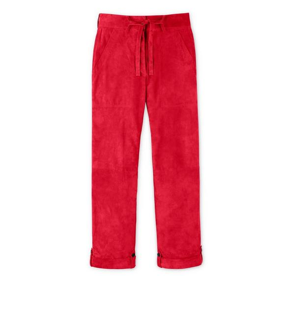CASHMERE SUEDE BOYFRIEND PANTS A fullsize