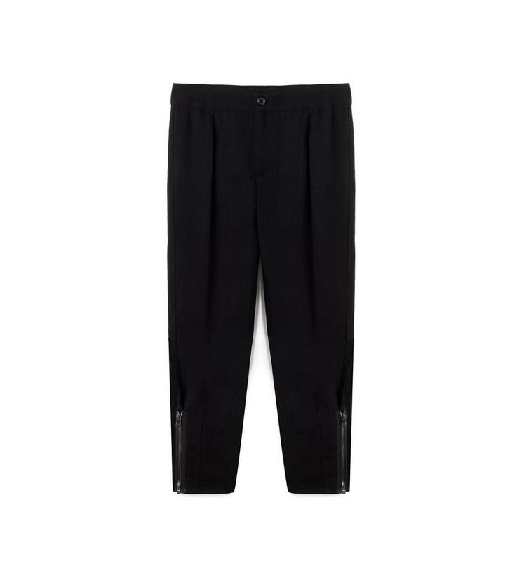 CROPPED CARGO PANT WITH ZIPS A fullsize