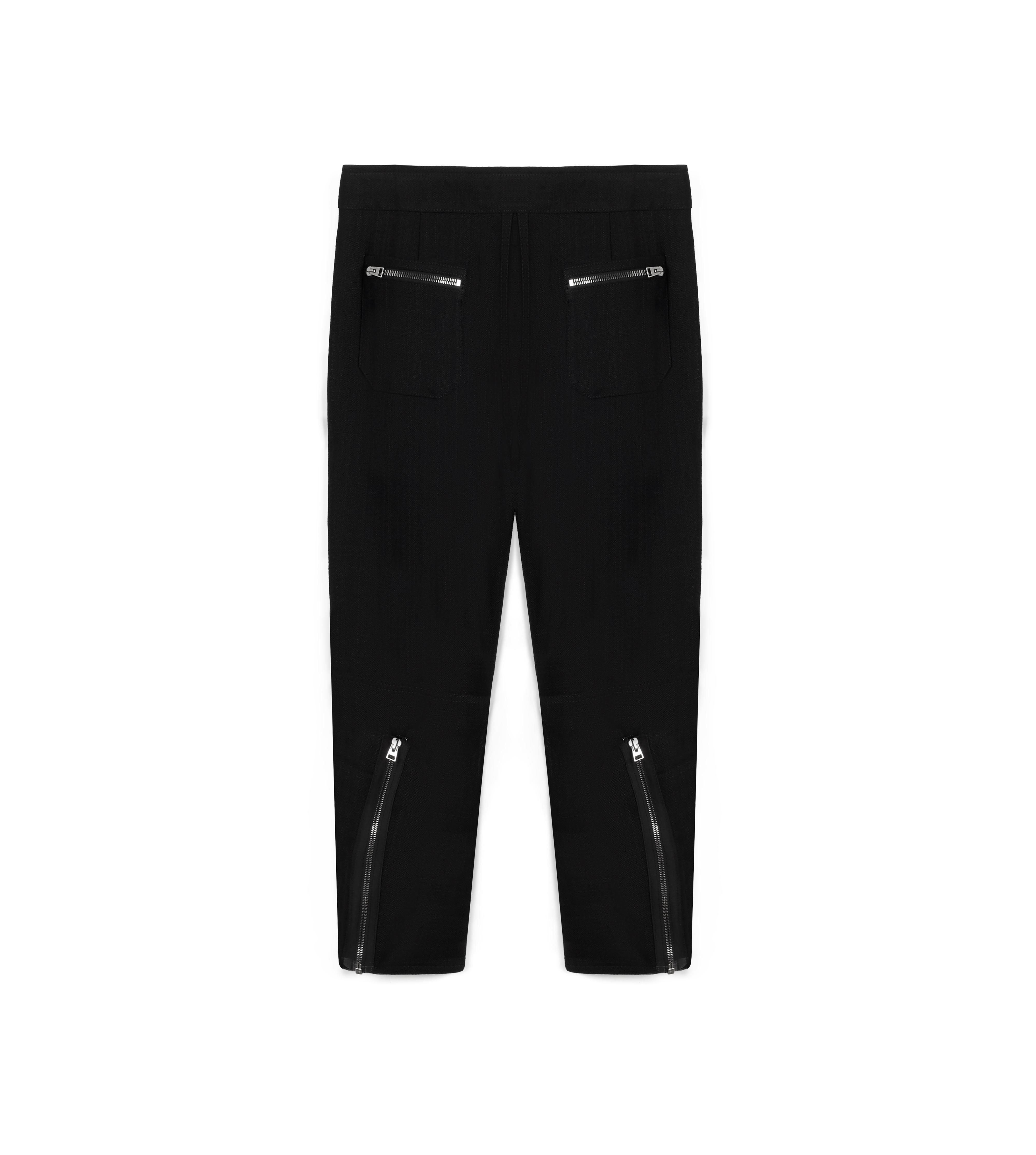 CROPPED CARGO PANT WITH ZIPS B thumbnail
