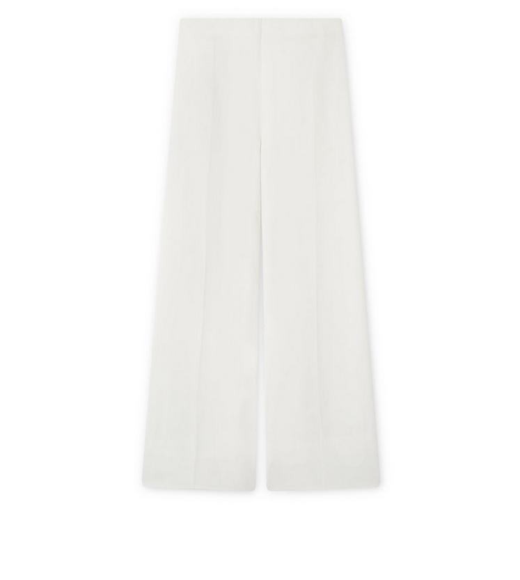 STRETCH CADY WIDE-LEG TROUSERS A fullsize
