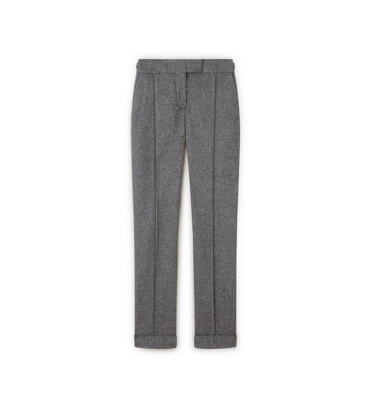 PRINCE OF WALES CHECK SLIM TROUSERS WITH CUFF A fullsize