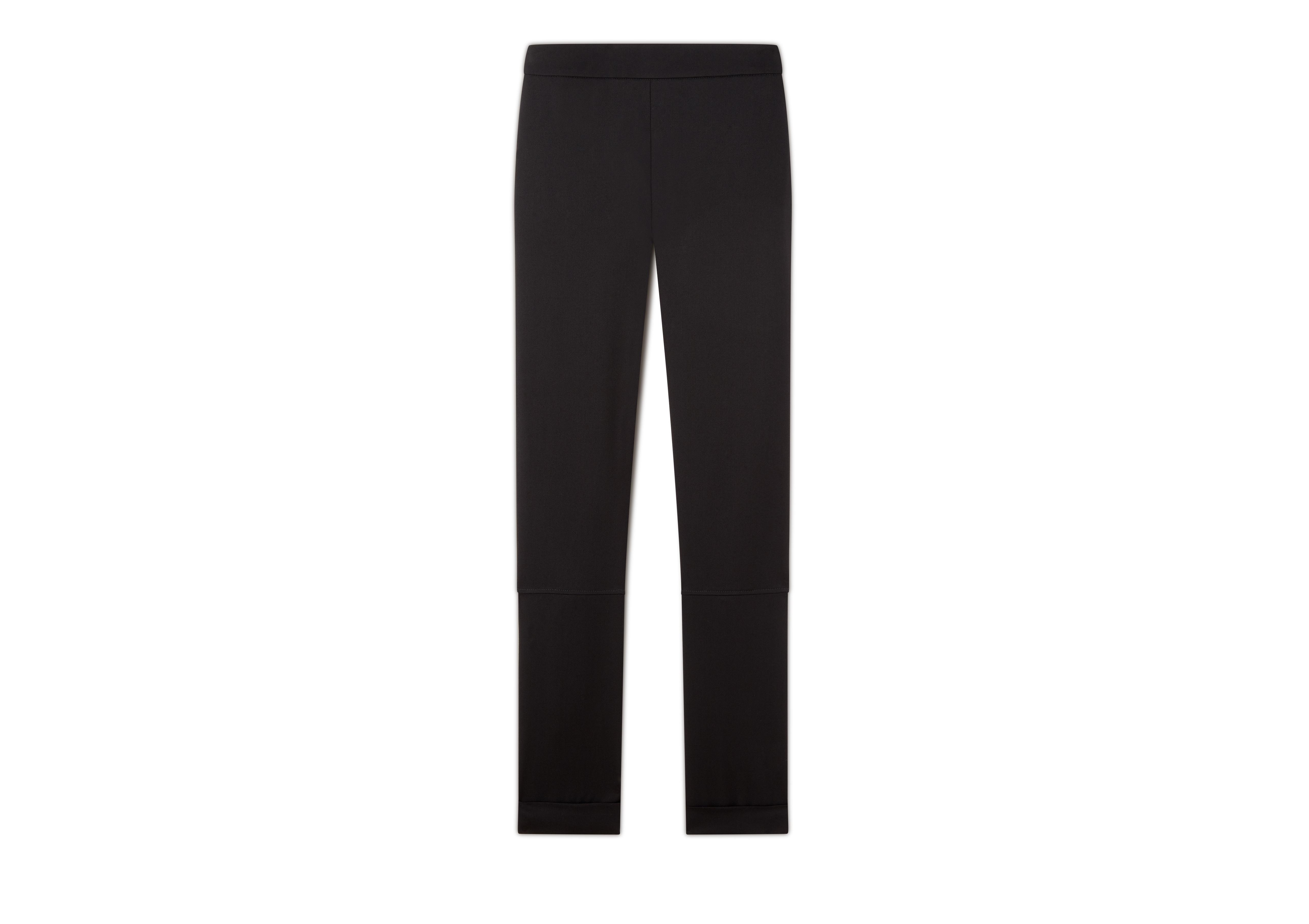 WOOL GABARDINE LEGGINGS WITH ANKLE CUFF & ZIP A thumbnail