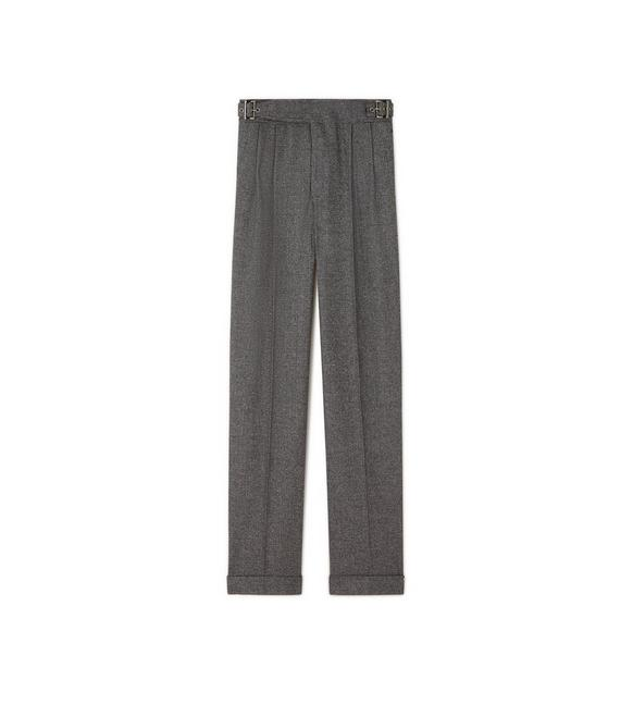 PRINCE OF WALES CHECK WIDE-LEG TROUSERS A fullsize