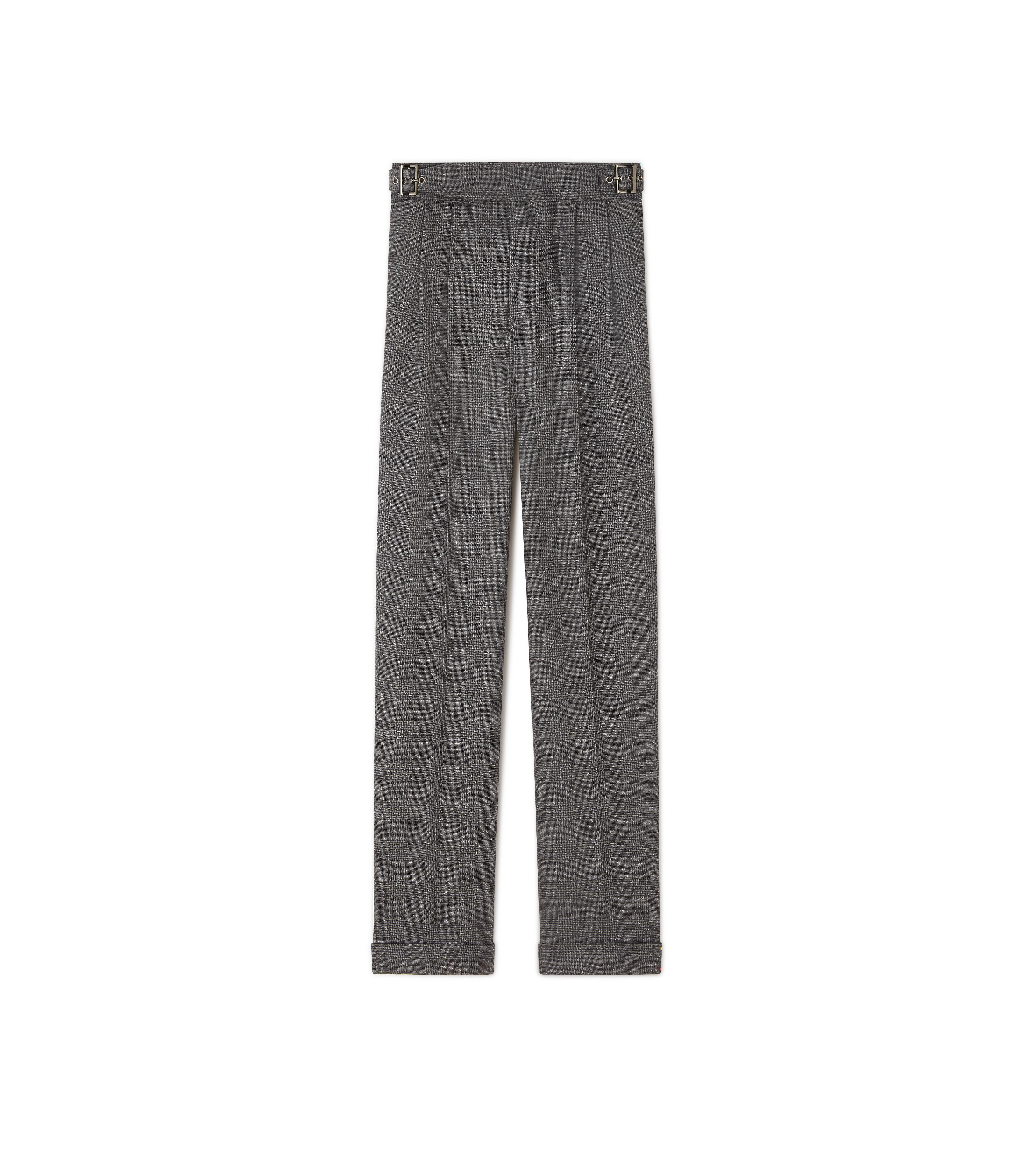 PRINCE OF WALES CHECK WIDE-LEG TROUSERS A thumbnail