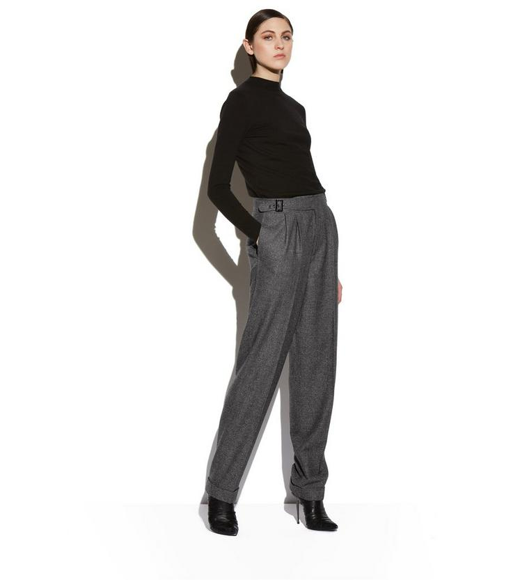 PRINCE OF WALES CHECK WIDE-LEG TROUSERS B fullsize