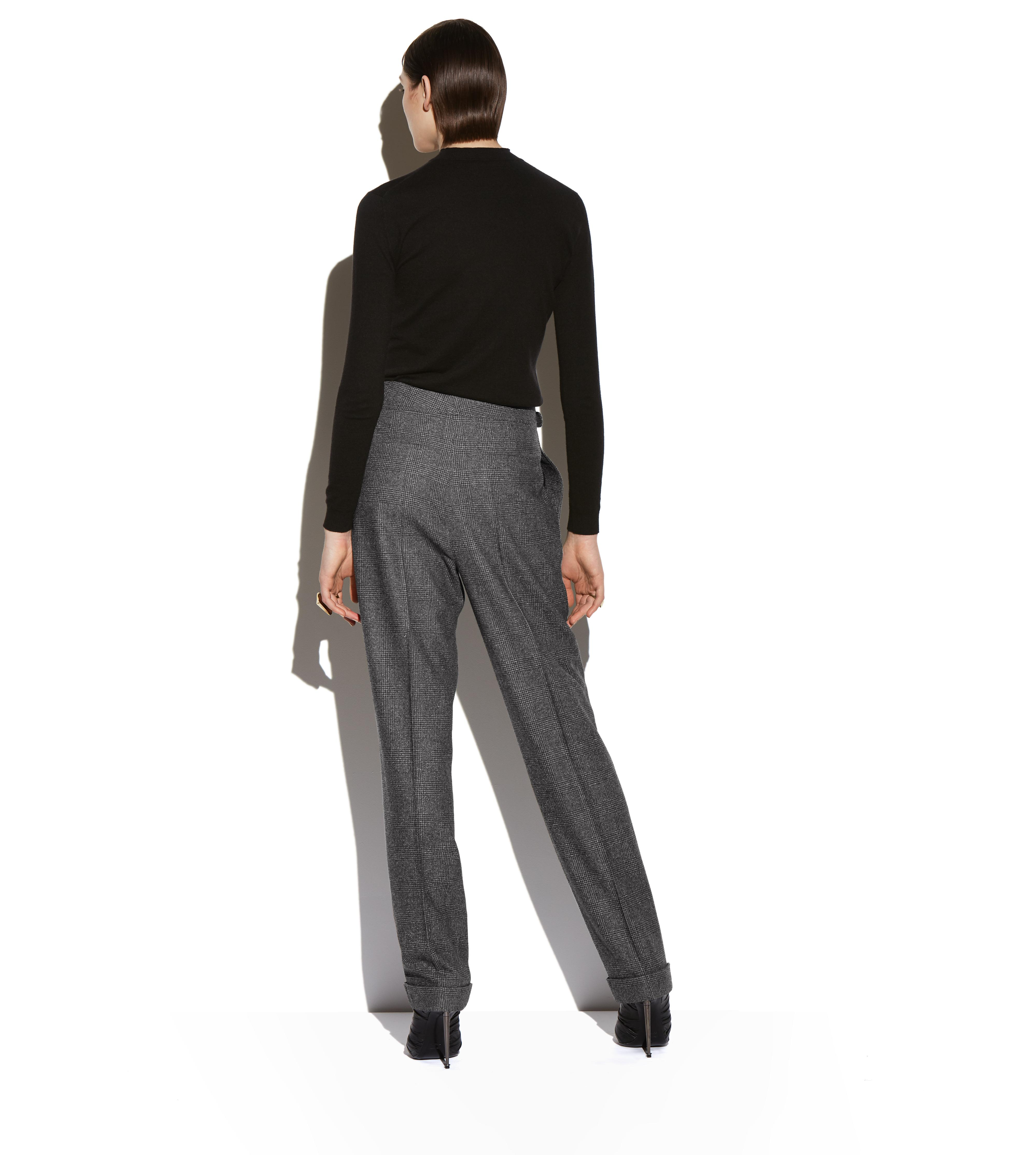 PRINCE OF WALES CHECK WIDE-LEG TROUSERS C thumbnail