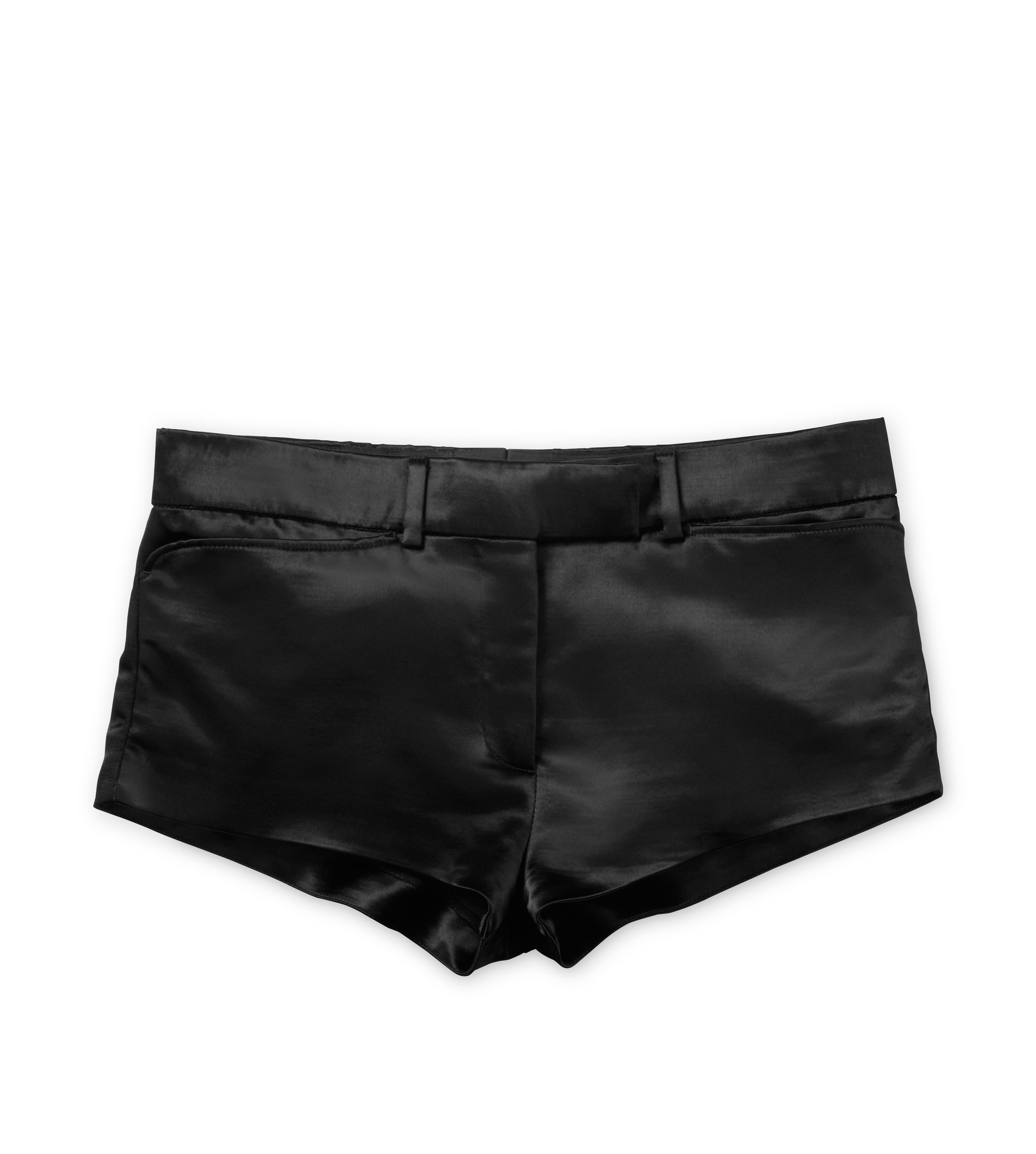 MILITARY SATIN MINI SHORTS A thumbnail