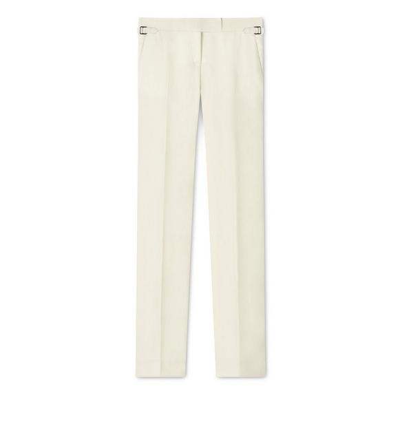 LINEN STRAIGHT FIT TROUSER A fullsize