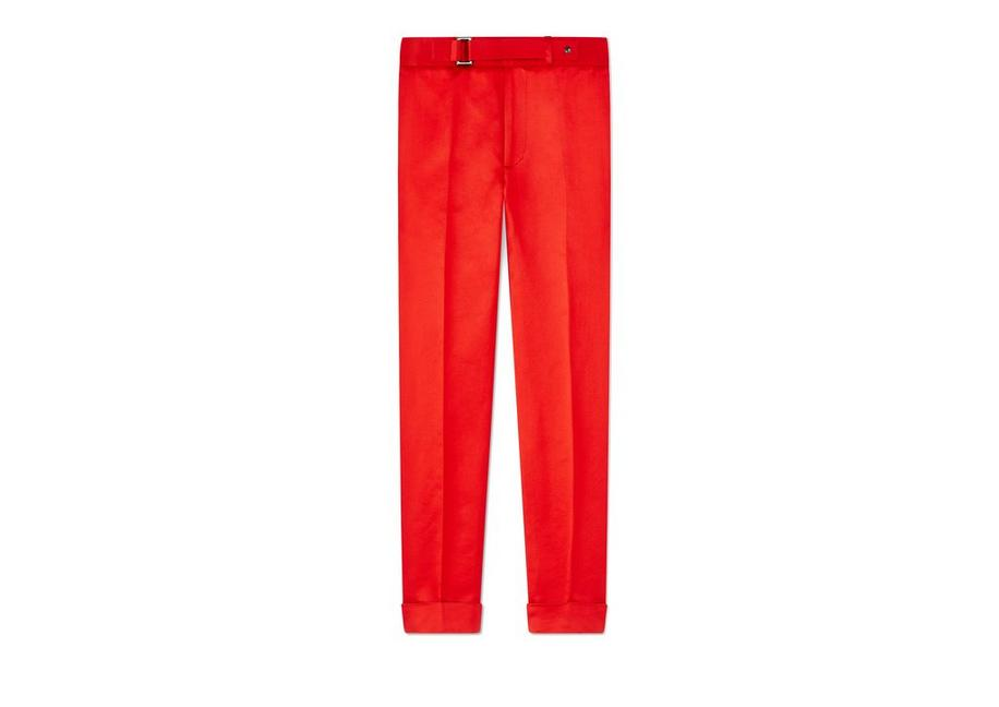 SILK SATIN TAILORED PANTS A fullsize