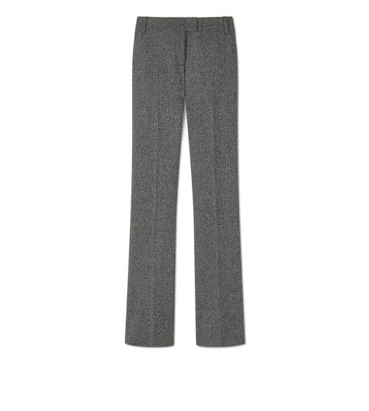TWEED FLARED PANTS