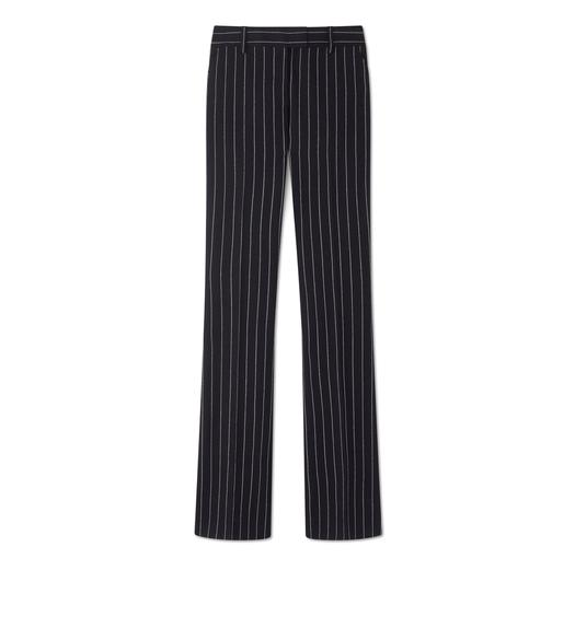 PINSTRIPE FLARED PANTS