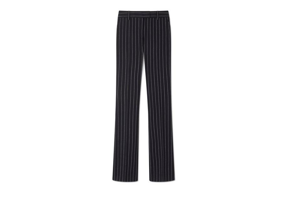 Pinstriped Wool Flared Pants - Black Tom Ford Sale Huge Surprise With Mastercard Cheap Price Cheap Excellent Sale From China mBIRkNHR