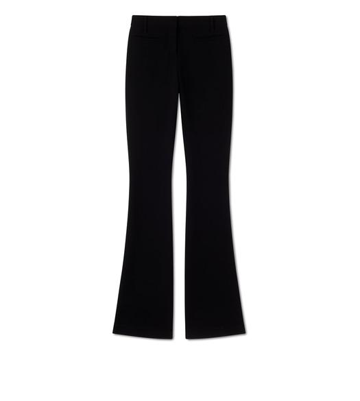 DOUBLE SPLITTABLE STRETCH WOOL FLARED PANTS