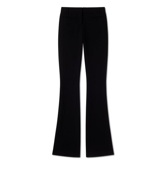 DOUBLE SPLITTABLE STRETCH WOOL FLARED PANTS A fullsize