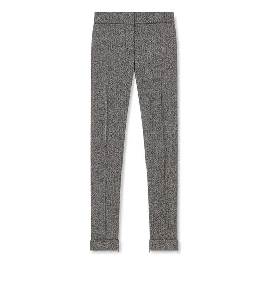 TWEED SLIM PANTS
