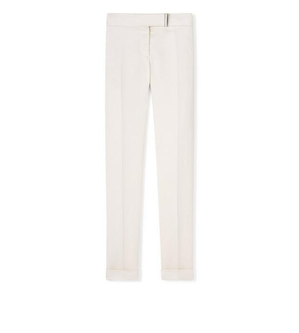 LIGHT MIKADO STRAIGHT LEG PANTS A fullsize