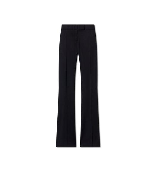 LIGHTWEIGHT WOOL FLARE PANTS