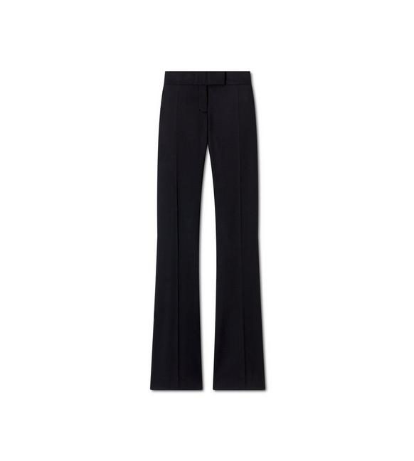 LIGHTWEIGHT WOOL FLARE PANTS A fullsize