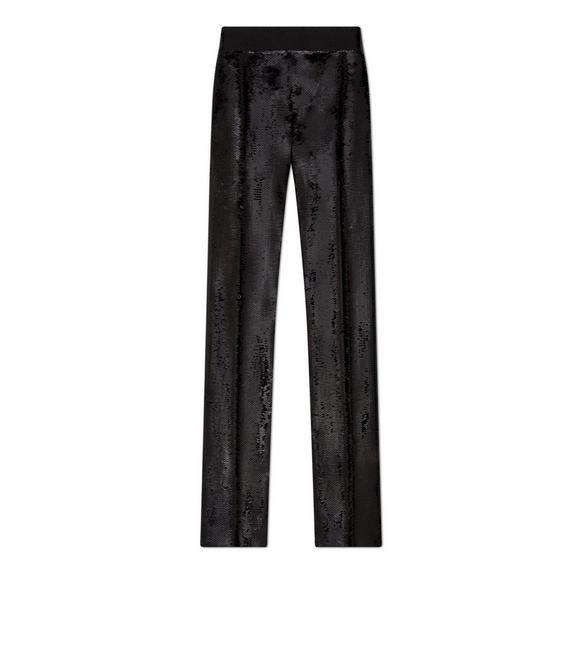 SEQUIN EMBROIDERED TAILORED PANTS A fullsize