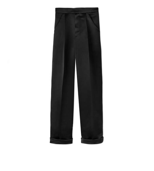 SILK DUCHESSE PLEATED PANTS