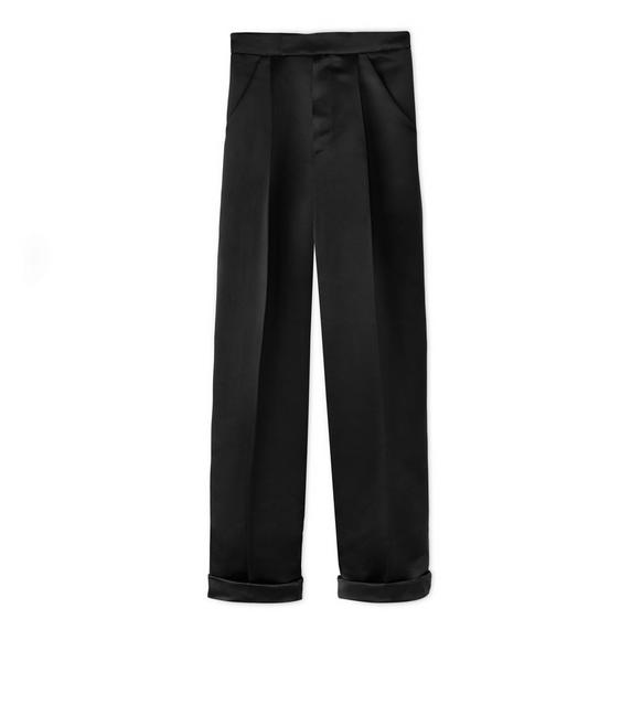 SILK DUCHESSE PLEATED PANTS A fullsize