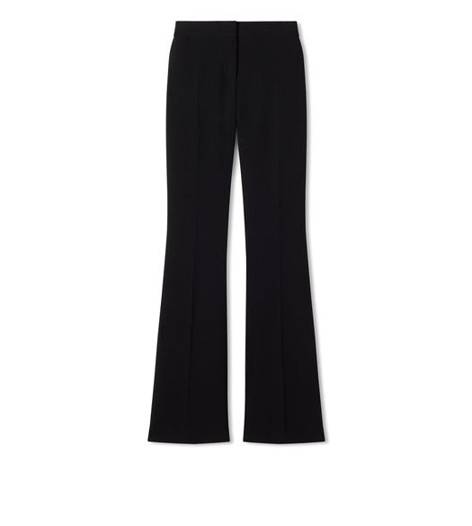 DOUBLE SPLITTABLE STRETCH WOOL FLARE PANTS