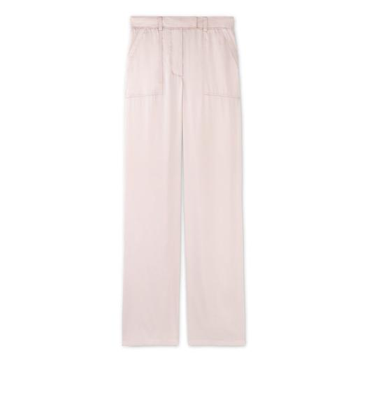 SILK SATIN BOYFRIEND PANTS