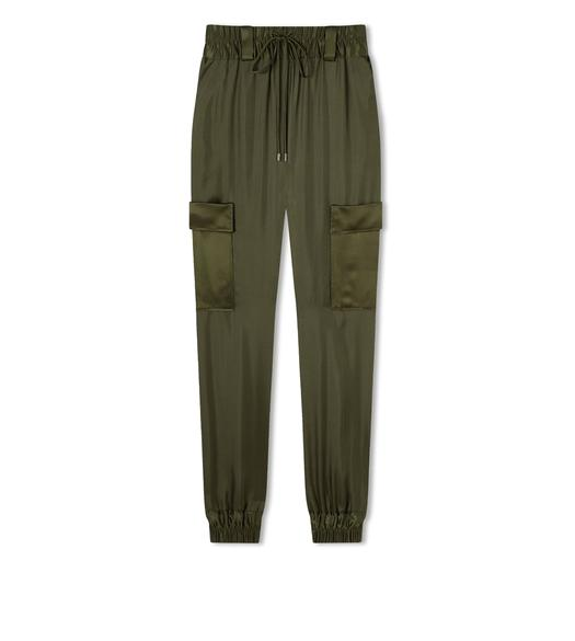 SILK TWILL JOGGING PANTS