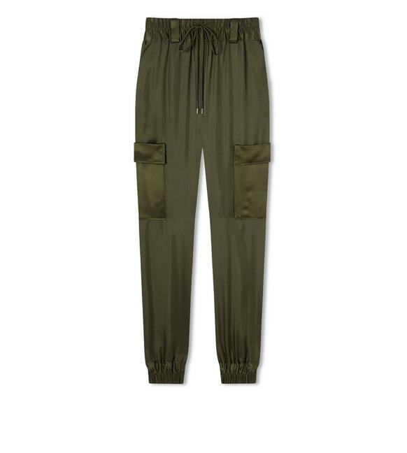 SILK TWILL JOGGING PANTS A fullsize