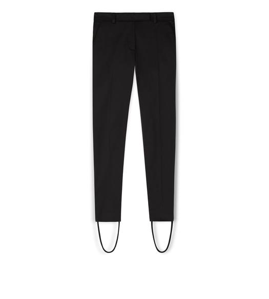 STRETCH COTTON VISCOSE STIRRUP PANTS