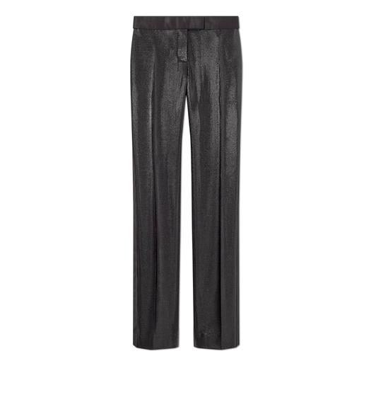 LUREX TECHNICAL WOOL TUXEDO PANTS
