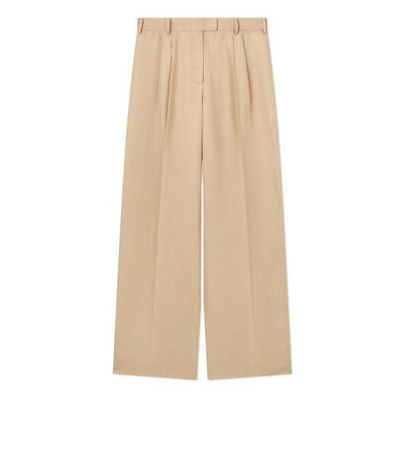 VISCOSE LINEN TAILORED PANTS A fullsize