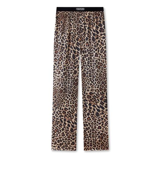 REFLECTED LEOPARD PRINT PJ PANTS