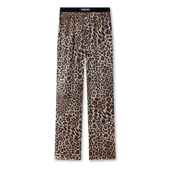 REFLECTED LEOPARD PRINT PJ PANTS A fullsize