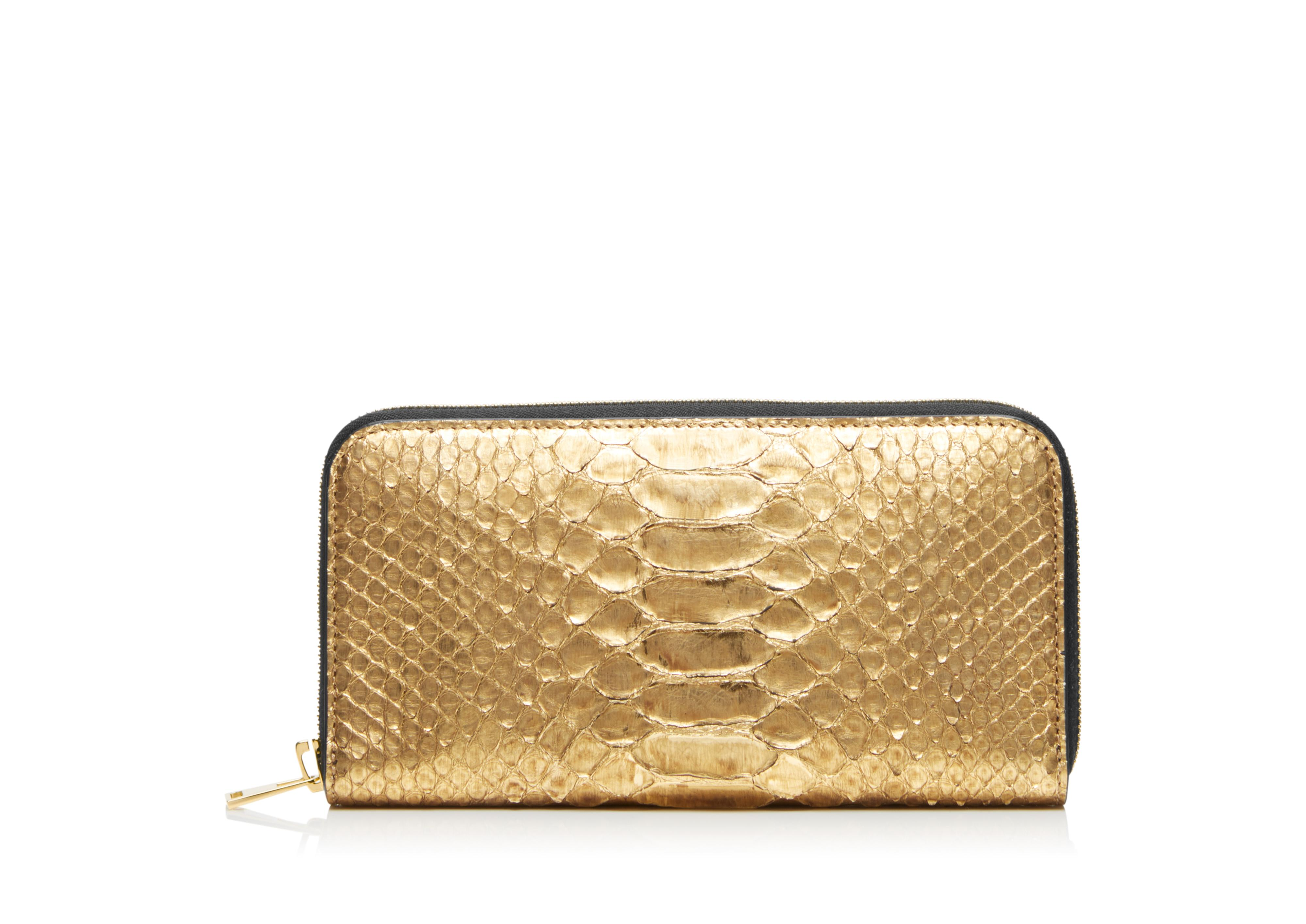METALLIC PYTHON TF ZIP AROUND WALLET A thumbnail