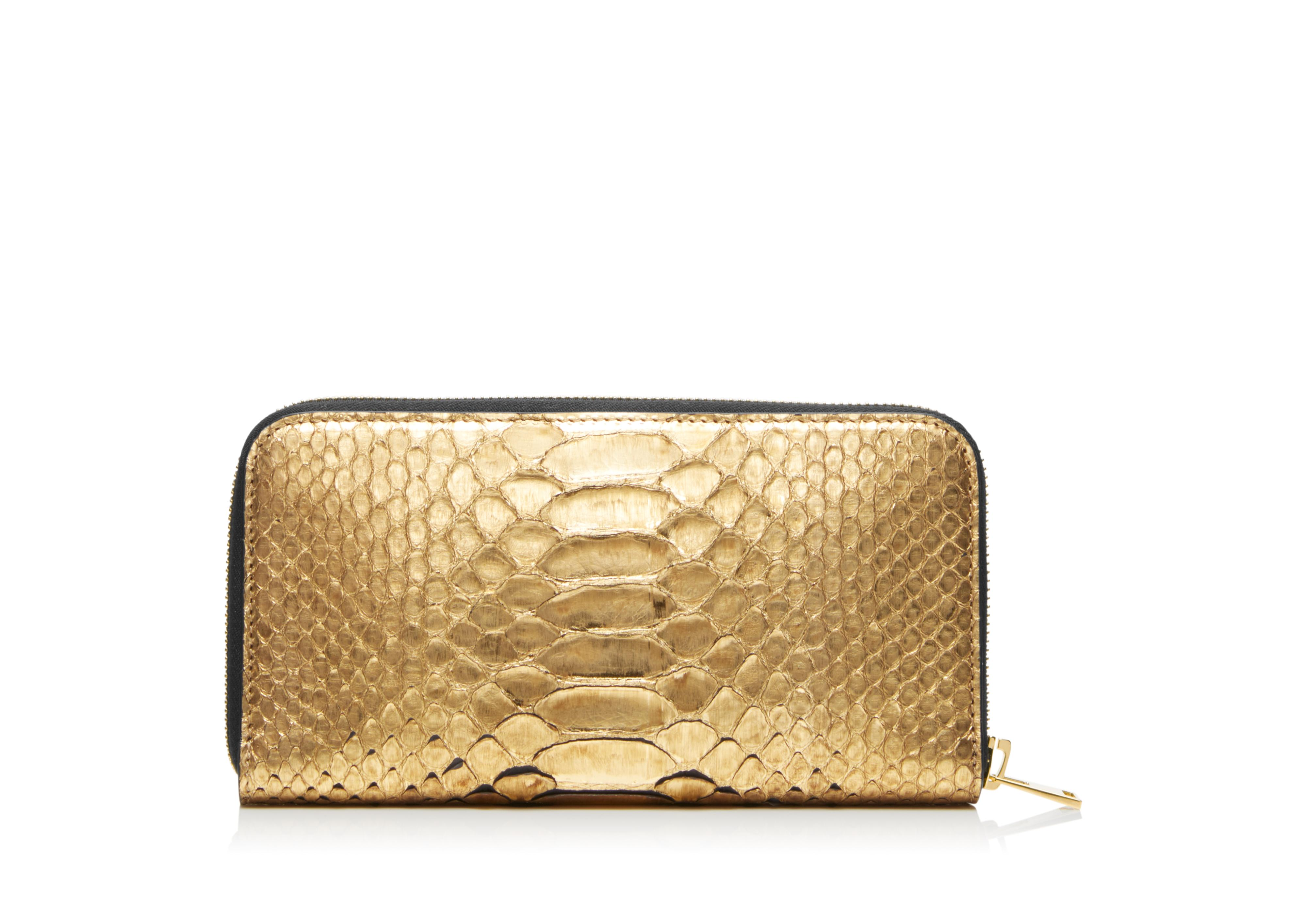 METALLIC PYTHON TF ZIP AROUND WALLET C thumbnail