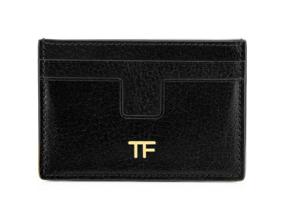 GRAINED LEATHER T CARD HOLDER A fullsize