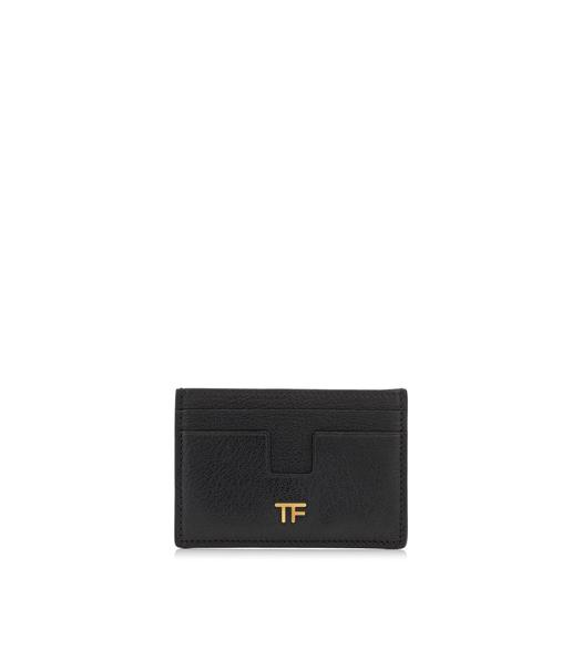 SHINY GRAINED LEATHER TF CARD HOLDER