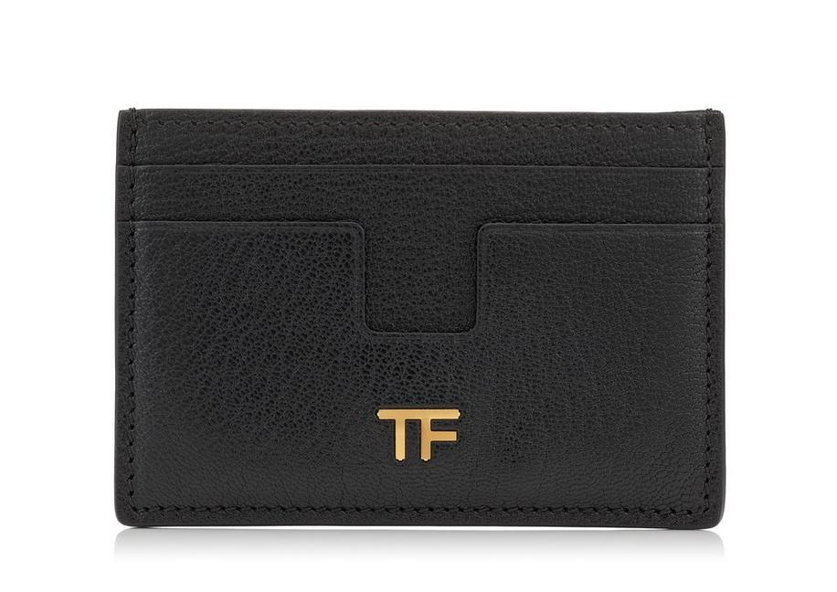 SHINY GRAINED LEATHER TF CARD HOLDER A fullsize