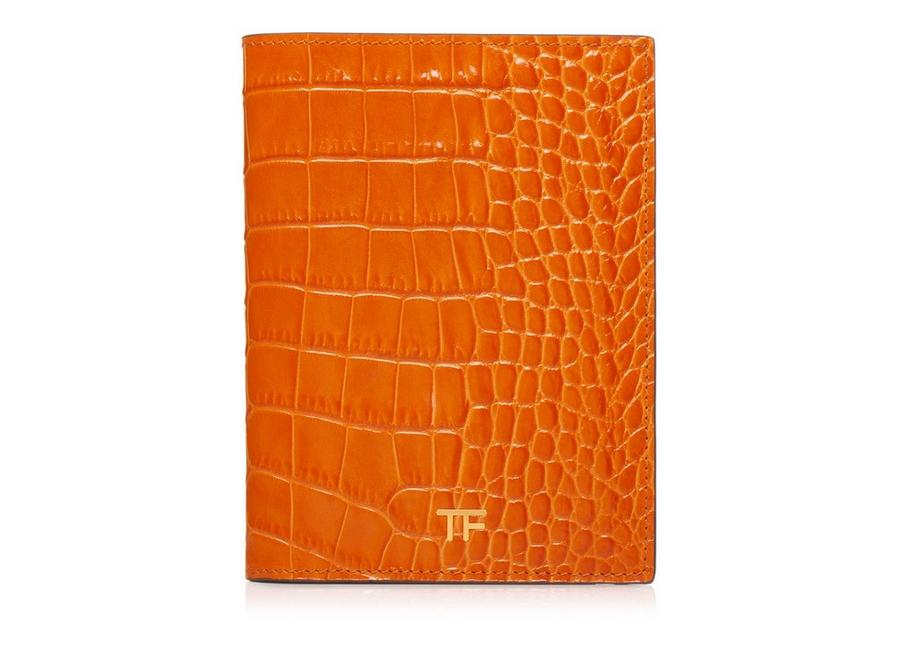 ALLIGATOR PASSPORT HOLDER A fullsize