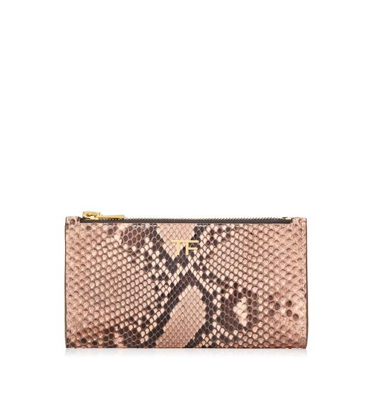 PYTHON DOUBLE ZIP POUCH