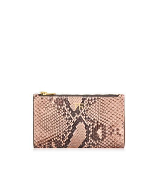 PYTHON SMALL DOUBLE ZIP POUCH