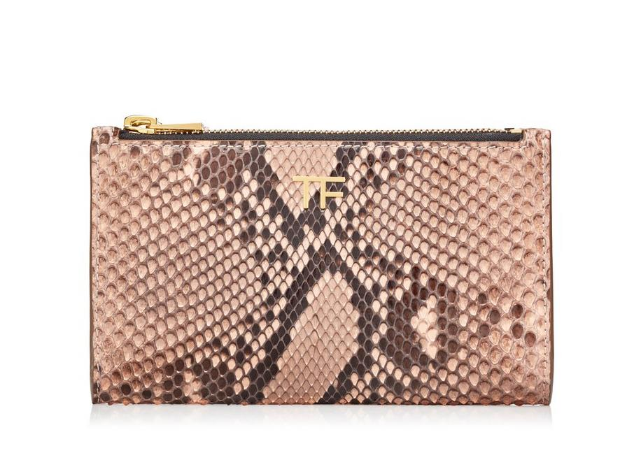 PYTHON SMALL DOUBLE ZIP POUCH A fullsize