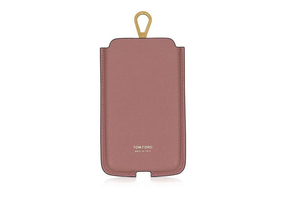 GRAIN LEATHER IPHONE CASE WITH NECK STRAP A fullsize