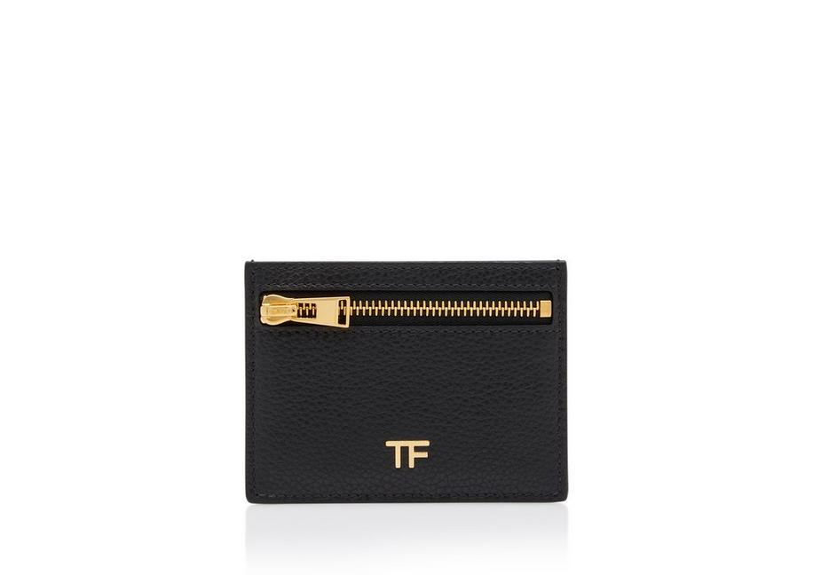 GRAIN LEATHER CLASSIC TF CARD HOLDER WITH ZIPPED POCKET A fullsize