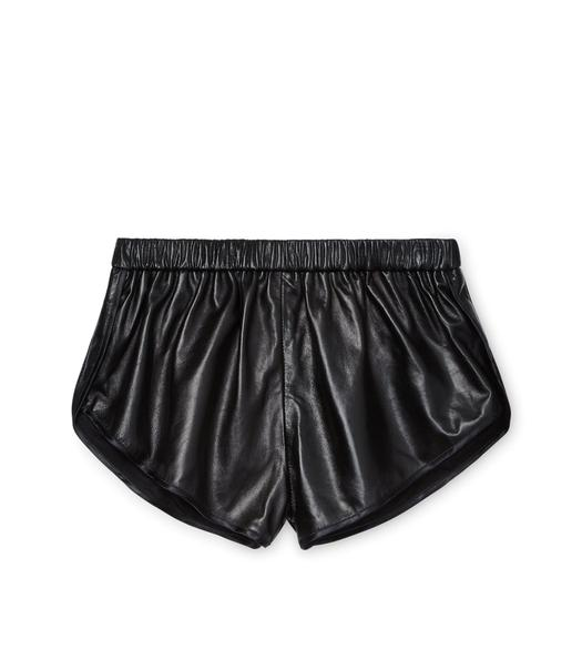 PLONGE LEATHER RUNNING SHORTS