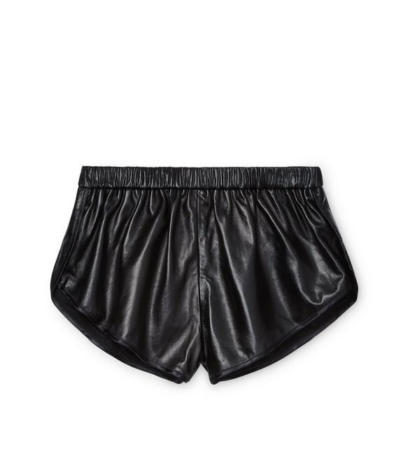 PLONGE LEATHER RUNNING SHORTS A fullsize