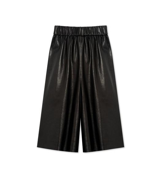 PLONGE LEATHER BASKETBALL SHORTS